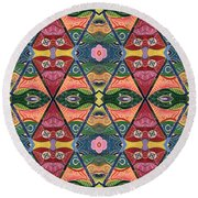 The Joy Of Design V Arrangement Strength In Numbers Round Beach Towel
