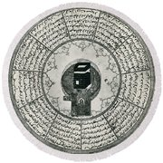 The Kaaba Round Beach Towel