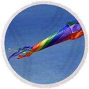 The Kaleidoscope Kite Round Beach Towel by Rod Johnson