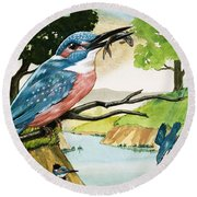 The Kingfisher Round Beach Towel