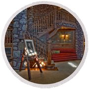 The King's Living Room Round Beach Towel by Susan Candelario