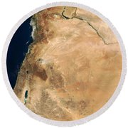 The Lands Of Israel Along The Eastern Round Beach Towel