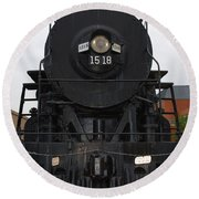 The Last Iron Horse Loc 1518 In Paducah Ky Round Beach Towel