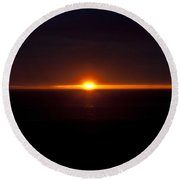 The Last Light - 3 Round Beach Towel