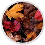 The Leaves Round Beach Towel