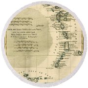 The Lesser Antilles Or The Windward Islands Round Beach Towel by Guillaume Raynal
