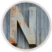 The Letter N Round Beach Towel