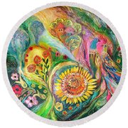 The Levant Village Round Beach Towel