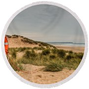 The Lifebelt Round Beach Towel by Steve Purnell