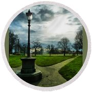 The Light Of A Winter's Day Round Beach Towel