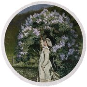 The Lilac Bush Round Beach Towel