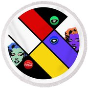 The Little Sister Round Beach Towel