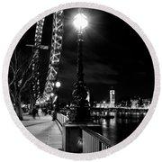 The London Eye At Night Round Beach Towel