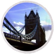 The London Tower Bridge Round Beach Towel