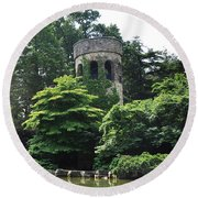 The Longwood Gardens Castle Round Beach Towel