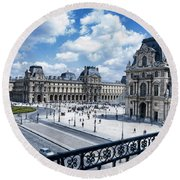 The Louvre Round Beach Towel