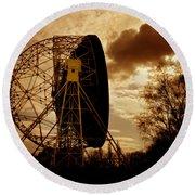 The Lovell Telescope At Jodrell Bank Round Beach Towel