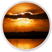 The Magic Of Morning Round Beach Towel