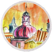 The Magical Roofs Of Prague 01 Bis Round Beach Towel