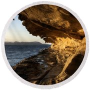 The Malaspina Galleries Round Beach Towel
