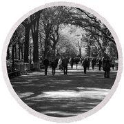 The Mall At Central Park Round Beach Towel