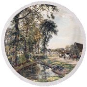 The Manor Farm Round Beach Towel