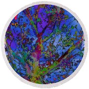 The Maple Tree Round Beach Towel
