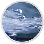 The March Of Winter Round Beach Towel