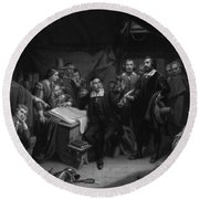 The Mayflower Compact, 1620 Round Beach Towel