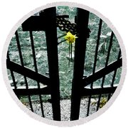 The Memorial Gates Round Beach Towel