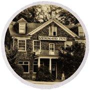 The Mermaid Inn - Chestnut Hill Round Beach Towel