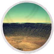 The Meteor Crater In Az 4 Round Beach Towel