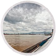 The Mighty Miss Round Beach Towel