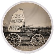 The Milk Wagon Round Beach Towel