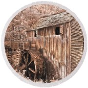 The Mill At Cade's Cove Round Beach Towel