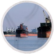 The Mississippi River Round Beach Towel