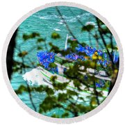 The Mist Before The Mist Round Beach Towel