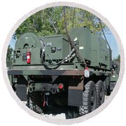 The Mk48 Logistics Vehicle System Round Beach Towel