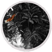 The Monarch Stands Alone Round Beach Towel