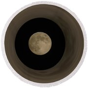 The Moon Within The Moon Round Beach Towel