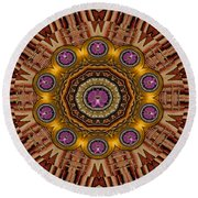 The Most Beautiful Orchids Round Beach Towel