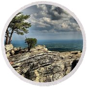 The Mountain Lookout Round Beach Towel