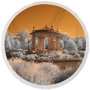 The Muny At Forest Park Round Beach Towel by Jane Linders