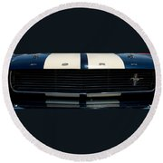 The Mustang Grill Round Beach Towel