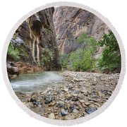 The Narrows 1 Round Beach Towel
