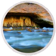 The Narrows Virgin River Zion 4 Round Beach Towel