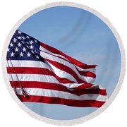The National Colors And Official Colors Round Beach Towel