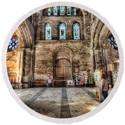 The Nave At St Davids Cathedral 5 Round Beach Towel