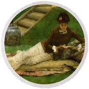 The Novel Round Beach Towel by Frank Dicey