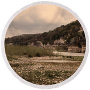 The Nueces River II Round Beach Towel